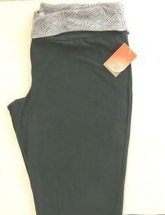 d93a712fa2 Danskin Now Burnout Capri Pants Size 20 XXL 2XG Gray Foldover Waist #Danskin  #ActivewearPants