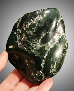 jade | dark green, ocean polished nephrite jade