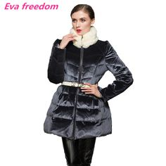 Find More Down Coats Information about Winter jacket women 2016 new high end luxury velvet girls long slim rabbit fur collar jackets for women Skirt hem down jacket,High Quality jacket fall,China jacket collar Suppliers, Cheap jacket windstopper from GerrySnowy Store on Aliexpress.com