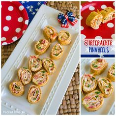 This easy cream cheese pinwheel recipe is the perfect appetizer to bring to your July party or any summer backyard BBQ. Has fresh veggies and cream cheese base, yum! Great Recipes, Favorite Recipes, Delicious Recipes, Cream Cheese Pinwheels, Peanut Blossoms, Spicy Appetizers, Pinwheel Recipes, Patriotic Party, Fresh Vegetables