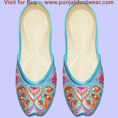 These are Indian Beaded Khussa designer shoes for the Women's. We make these shoes  in sizes 6 to 11 USA,3 to 9 UK & 36 to 44 EUR  all sizes. According to buyer demand and  ship  through DHL courier  service.The Cost of the display shoe is 42$ each pair. Kindly visit our  website to see more design at www.punjabfootwear.com