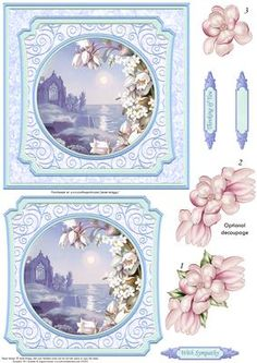 Tranquil Ocean Sympathy Card Topper   Quick Decoupage on Craftsuprint designed…