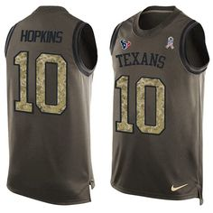 Nike Texans #10 DeAndre Hopkins Green Men's Stitched NFL Limited Salute To…