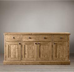 Option: Salvaged Wood Panel Dining Sideboard - RH