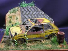 Rusted Subaru REX 1/20 Scale Model Diorama