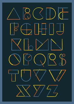 Typeface: Euclid by Chris Thompson, via Behance