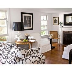 Black+and+White+Cottage+Decor | Cottage Decorating - Black and White Decor - Country Living