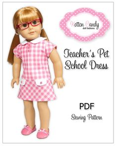 "PDF Sewing Pattern for 18"" American Girl  School Dress ePattern. $4.99, via Etsy."