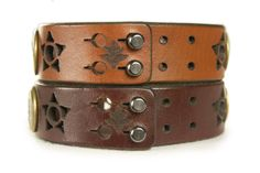Housweety Leather Bracelet for Men Women Woven Cuff Bracelet Owl Leaves Pattern