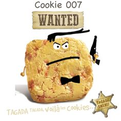 Son nom est Cookie, James Cookie, alias 007. Capturez-le avant que je ne cède à son charme ou il s'emparera des secrets de fabrication de nos merveilleux cookies.  Pour le capturer : http://www.tagadavoilalescookies.com/login-cookie0575707.html