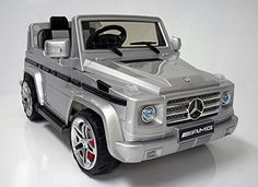 2015 Licensed Mercedes Benz G55 AMG Kids Ride on Power Wheels Battery Toy Car,Remote control,Lights,Music-Silver