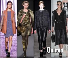 fall fashion trends 2013   New York Fashion Week Fall 2013 Trends Quilted Rebecca Taylor, Anna ...