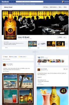Criação e operação da Página da Licor 43 no Facebook.