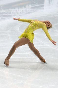 Rachael Flatt -Yellow Figure Skating / Ice Skating dress inspiration for Sk8 Gr8 Designs.