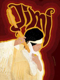 Dimitris Klonos Art Directory: Jimi Hendrix illustration