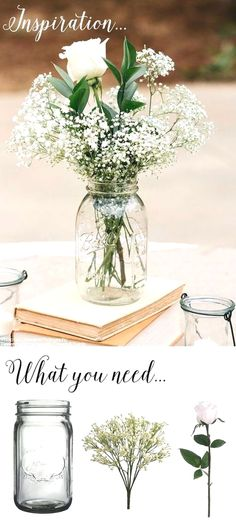 You can use this simple DIY vintage rustic centerpiece with mason jars . jars # middle You are in the right place about classic wedding decor Here we offer you the most beaut Wedding Signs, Wedding Favors, Wedding Bouquets, Wedding Flowers, Wedding Day, Wedding Rustic, Trendy Wedding, Wedding Vintage, Wedding Cakes
