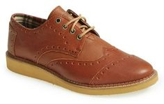 $124, Brogue Wingtip by Toms. Sold by Nordstrom. Click for more info: http://lookastic.com/men/shop_items/113249/redirect