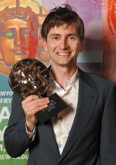 PHOTO OF THE DAY - 28th January 2015:  David Tennant wins a BAFTA Cymru - (Presented in 2007)