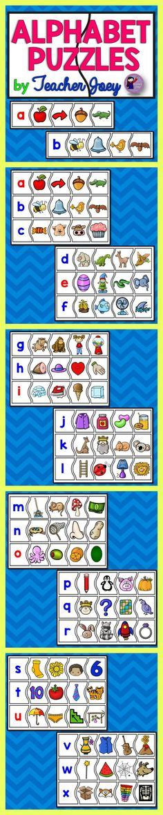 Alphabet Puzzles Alphabet Puzzles #teacherspayteachers #backtoschool #alphabet