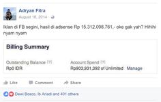 Penghasilan Adsense Adryan Fitra bulan ini bikin bikin ratusan internet marketer…