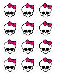 "Single Source Party Supply - 2.5"" Monster High  Cupcake Icing Toppers"