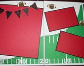 Football team Double Page Scrapbook Layout