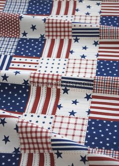 American Flag Fabric The USA Flag Cotton Fabric by fabricmade, $5.20