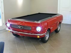 Best Car Pool Tables Images On Pinterest Pool Table Corvette - Mustang pool table