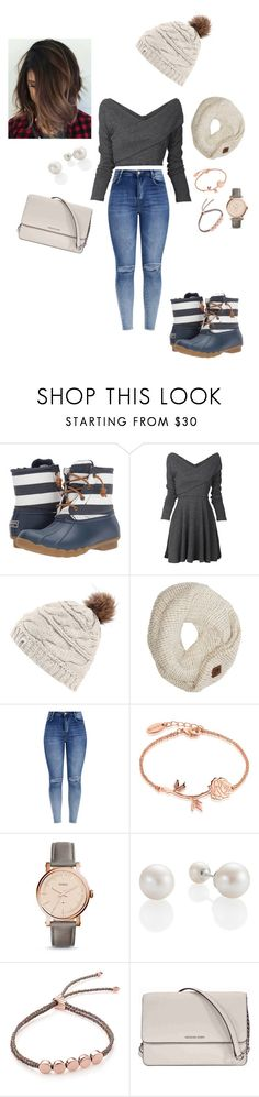 """Fall🍂to winter❄️"" by morgan2017 ❤ liked on Polyvore featuring Sperry, The North Face, Disney, FOSSIL, Monica Vinader and Michael Kors"
