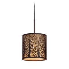 Elk Lighting Mini-Pendant Light with Amber Glass | 31073/1 | Destination Lighting $150.00