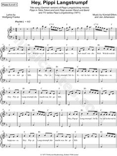Pippi Langstrumpf Lied Text Deutsch