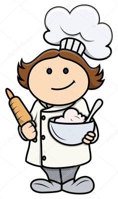 Bildergebnis für kochmütze clipart   Köchin Küche Applikationen ...   {Koch bei der arbeit clipart 92}