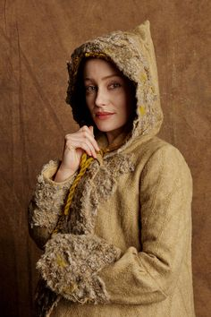 Geillis' amazing coat from Outlander Episode 110 - check out Terry Dresbach's notes from her blog here: http://www.terrydresbach.com/ep-110-the-coats/