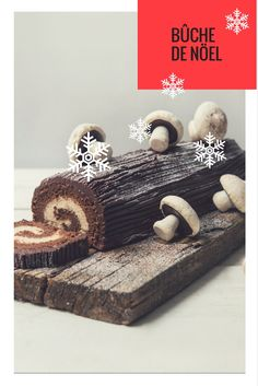 If you've left it too late to make a Christmas pudding or cake, Victoria shares a delicious Bûche de Nöel or Yule Log recipe to take the centrepiece as your dessert. Christmas Nibbles, Christmas Canapes, Christmas Time, Great British Chefs, Yule Log, Christmas Pudding, Baked Goods, Brownies, Festive