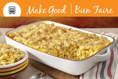 This Butternut Squash Mac + Cheese will be sure to warm you up during a cold fall day. For a gluten free option substitute with gluten free noodles. #MakeGoodDinner #ComfortFood