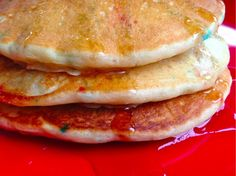Funfetti pancakes for the 4th of July!