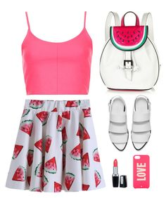 """Watermelon day"" by klaris-kon ❤ liked on Polyvore featuring Sophia Webster, Topshop, Alexander Wang, Isadora and Kate Spade"