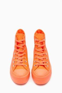 Converse All Star High-Top Sneaker in Orange
