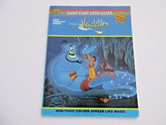 Disney Aladdin 1993 Paint With Water Book Unused Golden