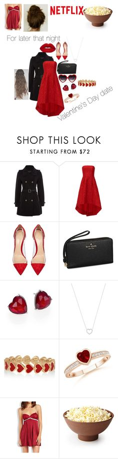 """""""Married couples Valentines Day"""" by aleenaaaaaaa on Polyvore featuring French Connection, ML Monique Lhuillier, Gianvito Rossi, Kate Spade, Adriana Orsini, Tiffany & Co., Alison Lou, Elle Macpherson Intimates, women's clothing and women"""