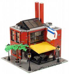Caffetteria in un vecchio edificio industriale LEGO