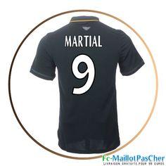 Maillot de football AS Monaco noir MARTIAL 9 Exterieur 15 2016 2017