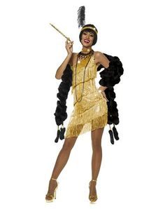 Gold Dazzling Flapper Adult Womens Costume