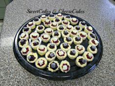 Blueberry and Strawberry cheesecakes