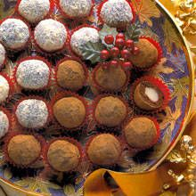 Chocolate marzipan truffles - bring on the holidays!