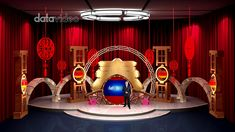 New Year Decoration Virtual Studio Chinese New Year Decorations, New Years Decorations, Virtual Studio, Chinese Festival, Festival Celebration, Tvs, Entertainment, Color, Colour