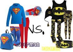 """Superman Vs. Batman"" by fashion-crazz on Polyvore"