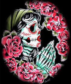 I'd love a gypsy/calavera in profile to finish out my chest piece.