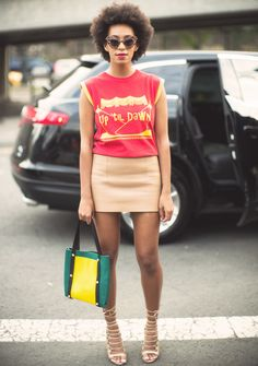 walkthatstreet:  the—one:  what-do-i-wear:  Solange's natural tresses are all attitude.(image:refinery29)  Inspiration?Herex  Message me...