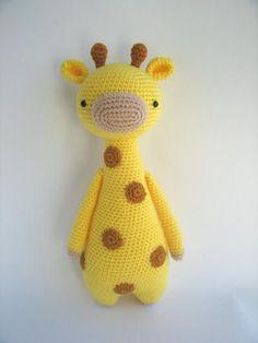 Jirafa con manchas - Patrón de crochet. En donpatron podrás buscar patrones de lana para tus proyectos. Tanto para ganchillo como a dos agujas, amigurumis, granny squares y todo tipo de prendas.